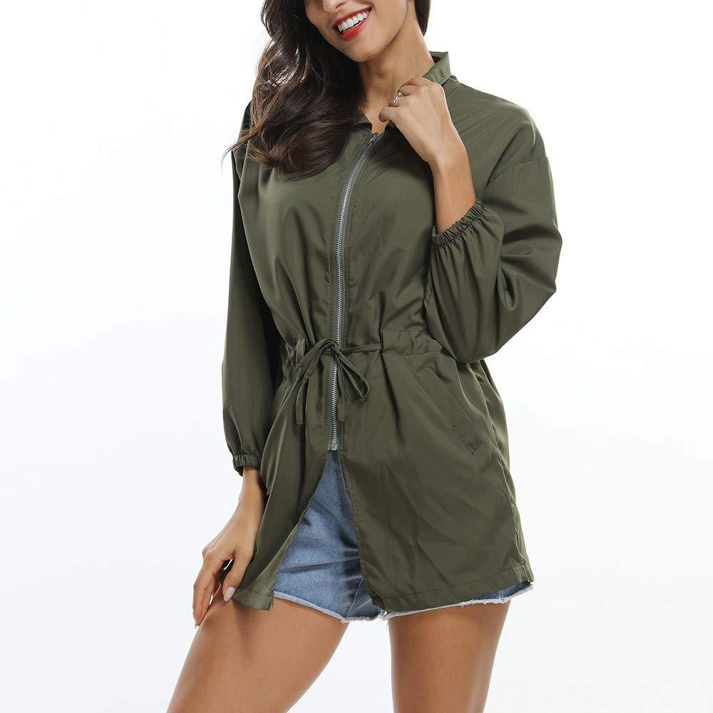 Hatoys Women Loose Long Sleeve Letter Printed Coat Kimono Jacket Cardigan Tops(XL,Army Green) by Hatoys