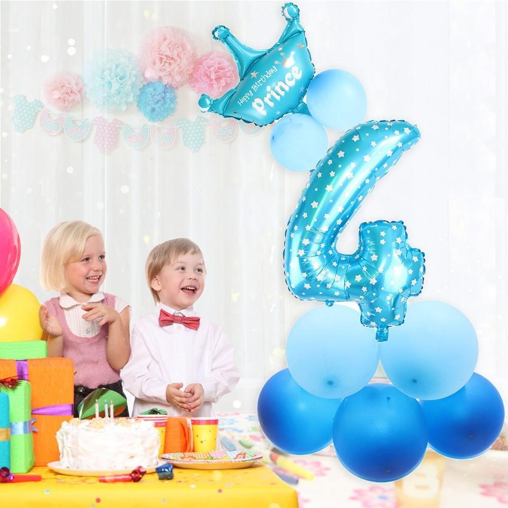 mikolot 81,3/cm GIANT Folienballon 0/ Hochzeit Jahrestag /Zahl 9/mit Krone Ballon 11/Latex Luftballons f/ür Geburtstag Baby Dusche Party Dekorationen Kit 0 rose