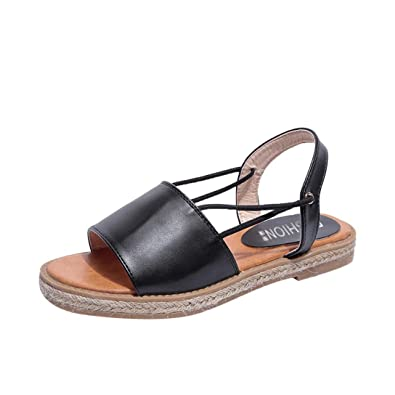 Damen Sandalen Sommer Elegant Flip Flops Schuhe Mode Strandschuhe  Zehentrenner Pantoletten Breathable Flat Anti Skidding Offene 3449f4c15d