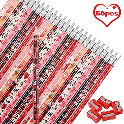 Valentine's Day Pencils, 56 count