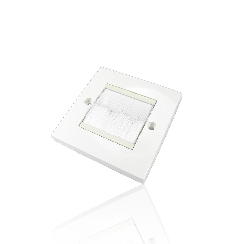 /Blanc CDL Micro Single Gang prise de courant plaque obturation/