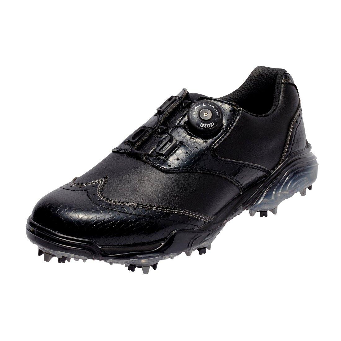 本間ゴルフ HONMA メンズ ウィングチップ ダイヤルシューズ ブラック/ブラック 26cm 3E SS-1603 原産国:中国 素材:甲(人工皮革)、底(EVAスポンジ/TPU)   B077N8M2FG