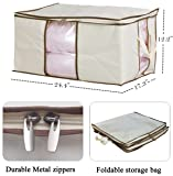 MISSLO Jumbo Zippered Storage Bags for Closet