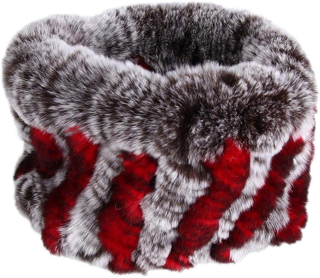 Women Real Fur Stretch Fur...