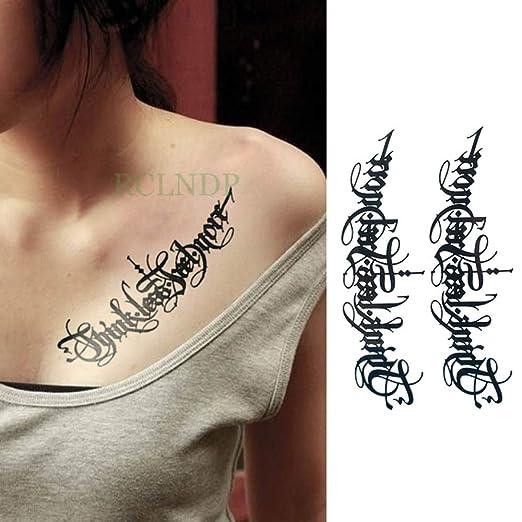 Handaxian 3pcs Tatuaje Etiqueta engomada del Tatuaje Mujer Hombre ...