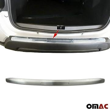 Protezione paraurti standard in acciaio inox spazzolato cromato con smussatura.