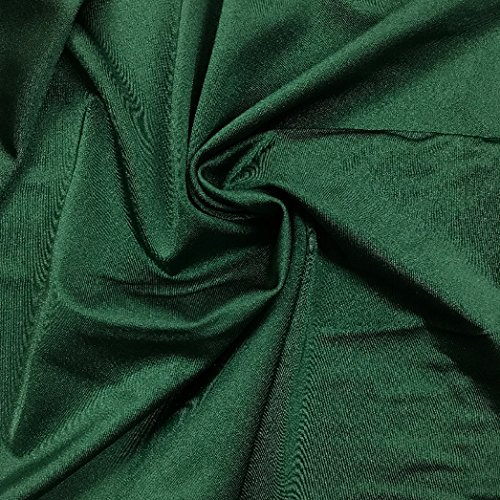 Pine Crest Fabrics Shiny Tricot Forest Green Fabric by The Yard