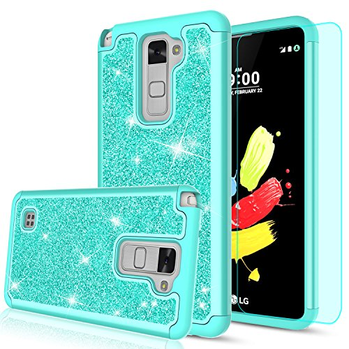 pick up 79689 6c646 LG Stylo 2 Case,LG Stylo 2 Plus Case,LG Stylus 2 / Stylo 2V Glitter Case  with HD Screen Protector for Women Girls,LeYi Heavy Duty Shockproof ...