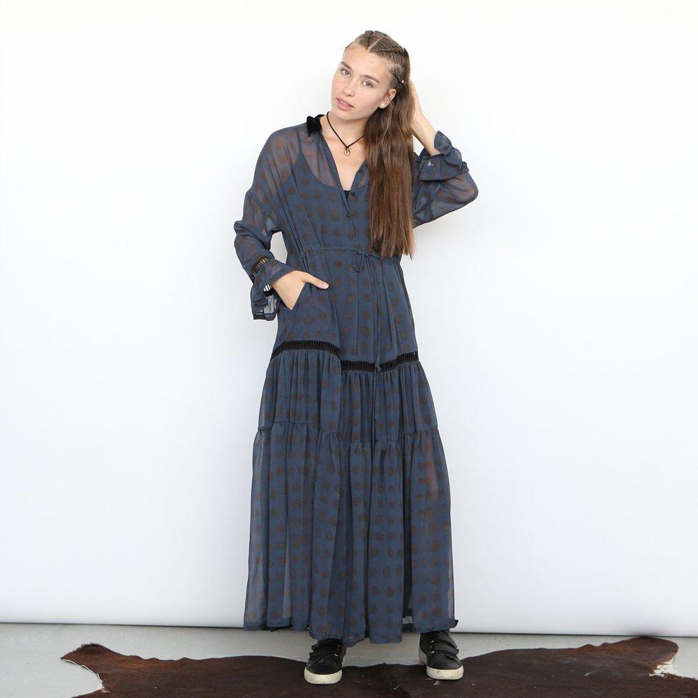 chiffon Polkadot maxi dress