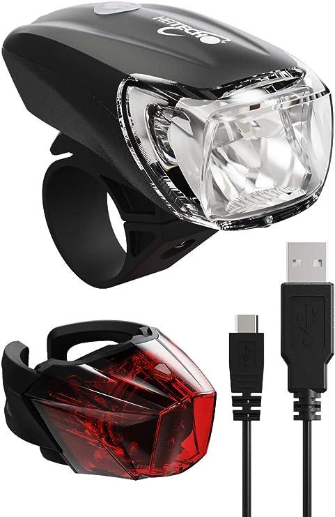 HEITECH StVZO luz Bicicleta Recargable: Amazon.es: Electrónica