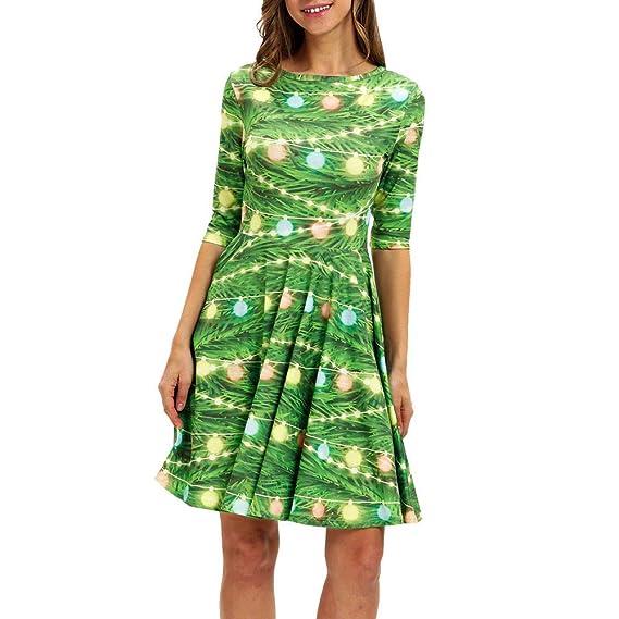 ea26ba2f32 BBestseller Moda Casual Gato de la Navidad Imprimiendo de Vestidos Blusas  de Fiesta Vestir Faldas Bodas