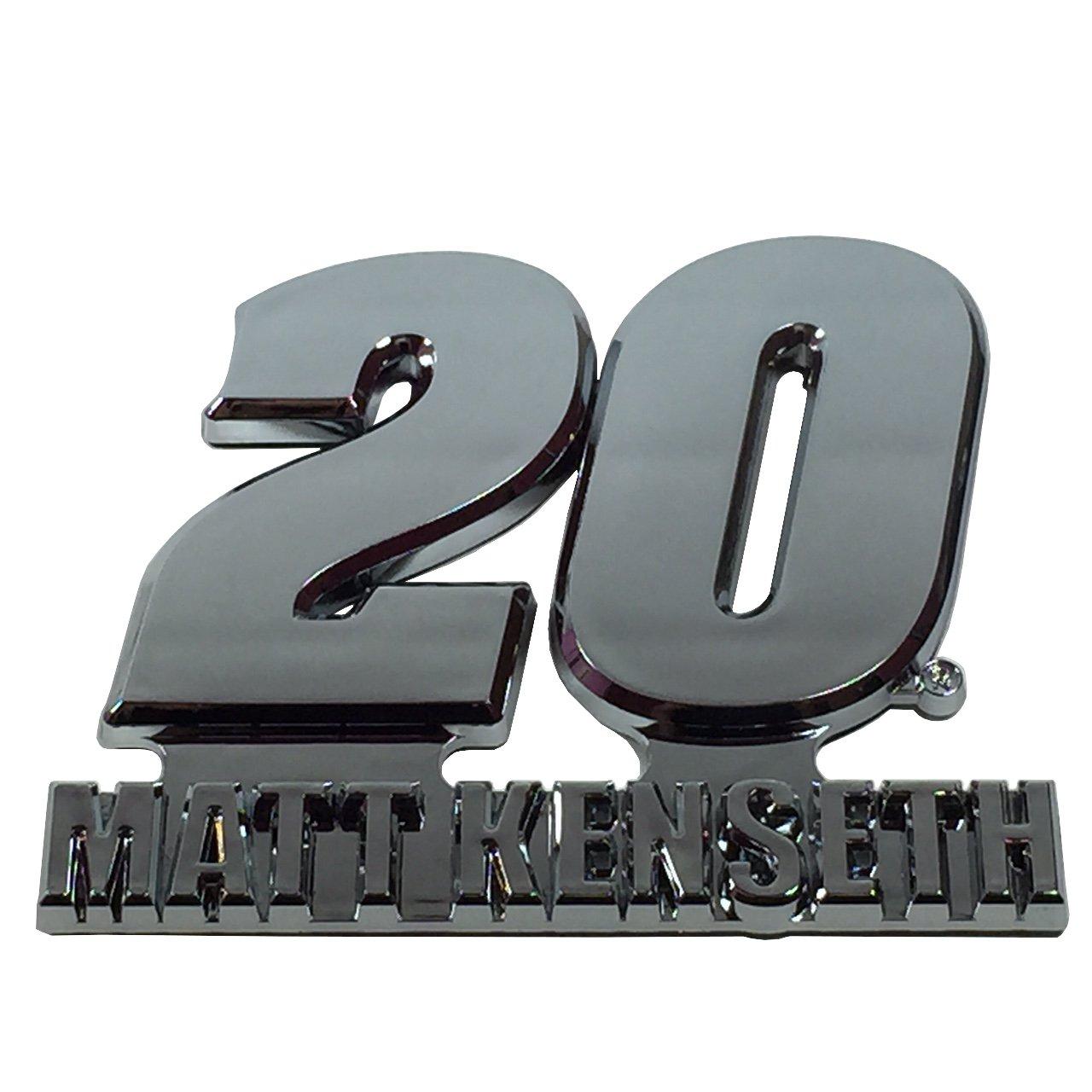 Matt Kenseth #20 Chrome Auto Emblem
