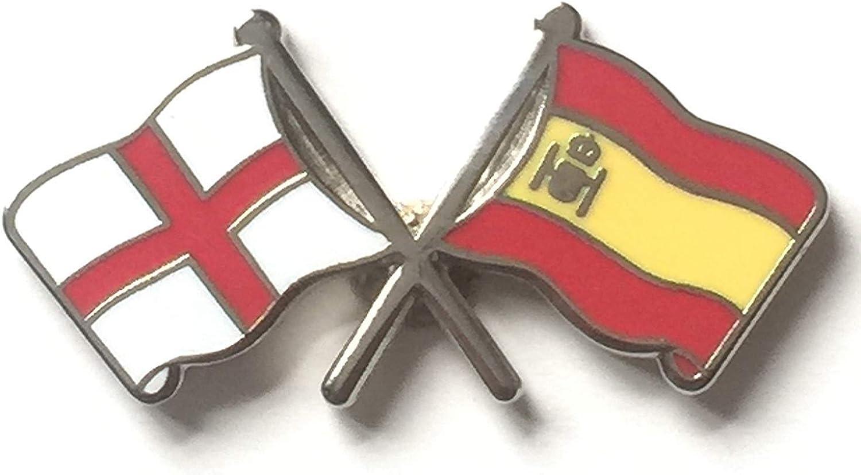 Inglaterra San Jorge & Español España Amistad Banderas Insignia con Alfiler de Solapa Esmaltada: Amazon.es: Ropa y accesorios
