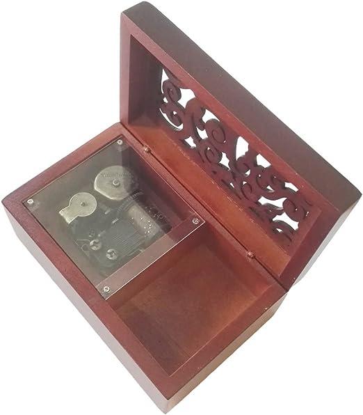 Antiguo Grabado de madera caja de música de cuerda, Oda a la Alegría caja de música: Amazon.es: Hogar