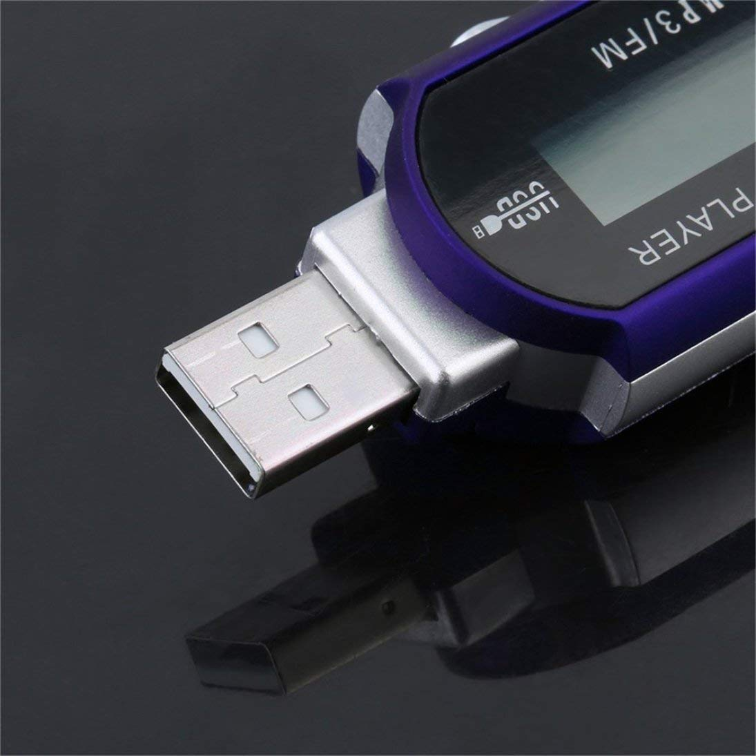 Mini USB 2.0 Unidad flash Transferencia de alta velocidad Pantalla LCD Reproductor de m/úsica MP3 Luz de fondo en LCD Proporciona una pantalla clara ToGames
