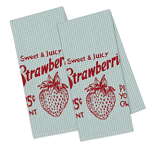 (DII Cotton Printed Dish Towels, 18x28
