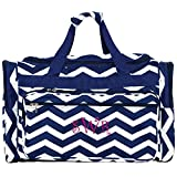 Personalized Navy Blue Large Travel Duffle Bags 22'' Customize with Order