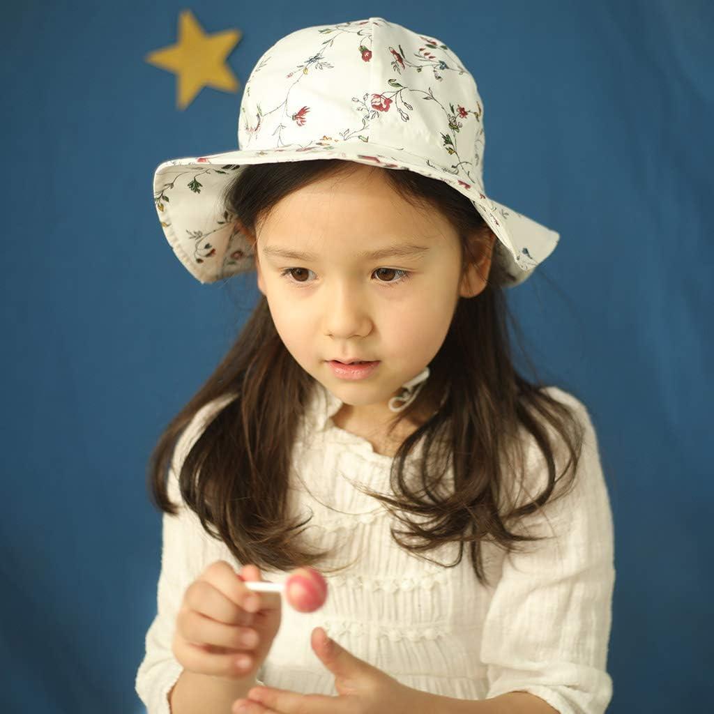 Ami/&Li tots Baby Hut Nackenschutz Kinder Baumwolle Anti-UV UPF 50 Sonnenhut M/ädchen Junge S/äugling Kind Kleinkind