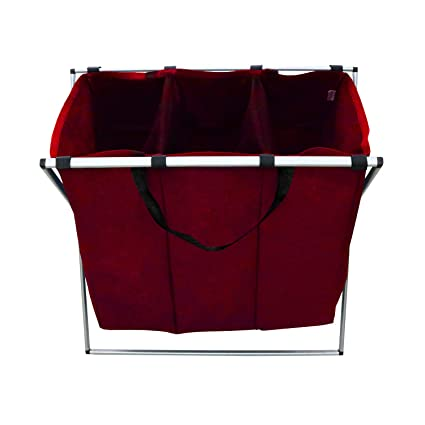 Berry Ave Tri-Part Laundry Basket Hamper (Dark, Light, Color) – Tall  Tri-Part Bin Dirty Clothes Organizer for Kids, Adults – Home and College  Use –