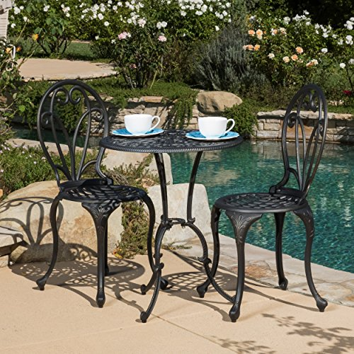 Windsor Cast (Windsor Dark Gold Cast Aluminum 3-piece Bistro Set)