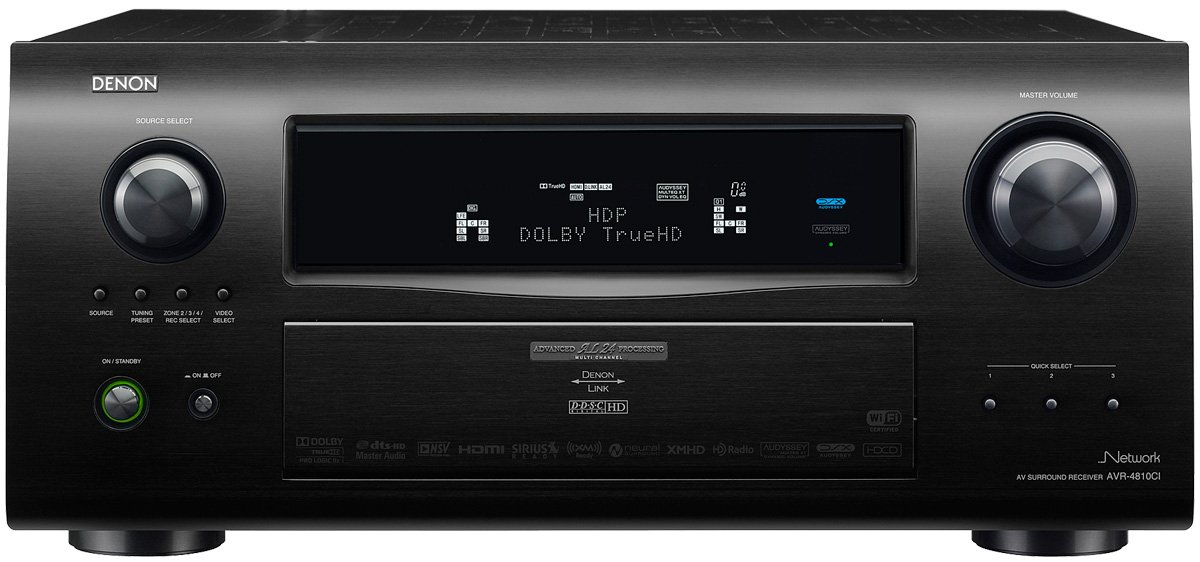 Denon AVR4810CI 9 3-Channel Multi-Zone Home Theater Receiver with  Networking Capability and 1080p