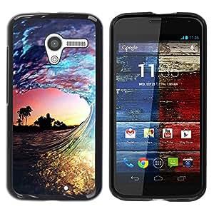 """Pulsar Snap-on Series Teléfono Carcasa Funda Case Caso para Motorola Moto X Motorola Moto X ( 1st Generation ) , Miami Ola Puesta de sol de verano colorido"""""""
