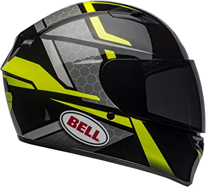 Bell Qualifier Full-Face Motorcycle Helmet (Flare Gloss Black/Hi-Viz Yellow, X-Small)