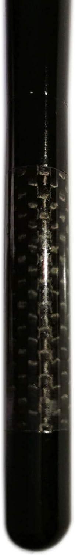 YL INC 5 Real Carbon Fiber Aluminum Short Antenna Polished Black Universal Screws Base