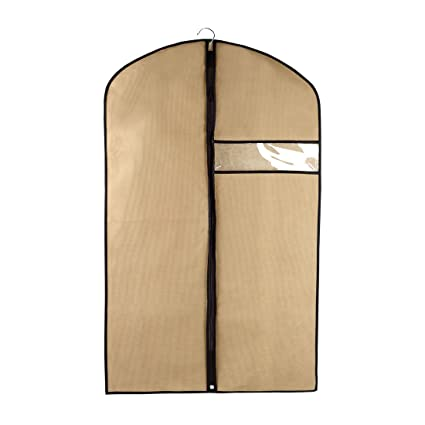 a597a4e14257 Amazon.com: uxcell Khaki Dustproof Garment Bags Clear Window ...