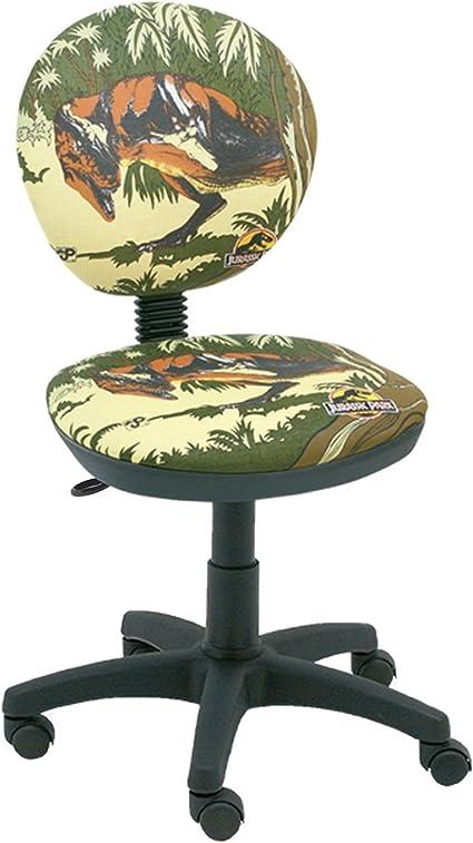Silla escritorio giratoria diseño dinosaurio Jurassic Park tela ...