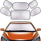 GLURIZ Parasoles de Coche, 6 Piezas Parasoles para Auto, Parasol Coche para Bebés y Mascotas, Protección Auto Frontal…
