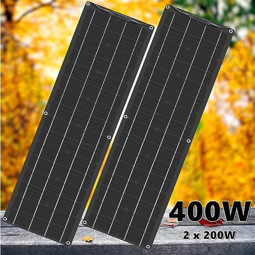 Amazon Com Framy Semi Flexible Solar Panel 400w 2x 200w Black Solar Panel Battery Charger 5v 12v 24v Controller Car Yacht Battery Boat Rv Home Camping Home Kitchen
