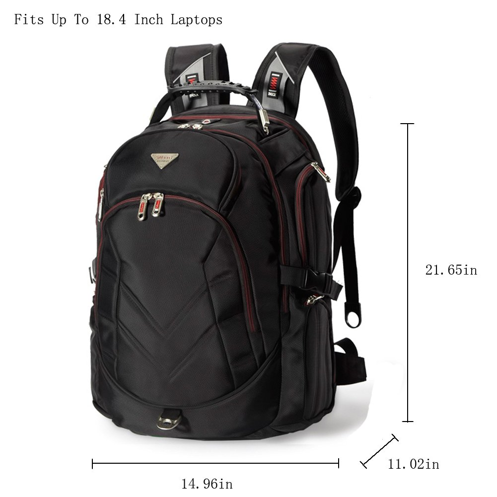 "Amazon.com: Bonvince 18.4"" Laptop Backpack Fits Up To 18.4 Inch ..."