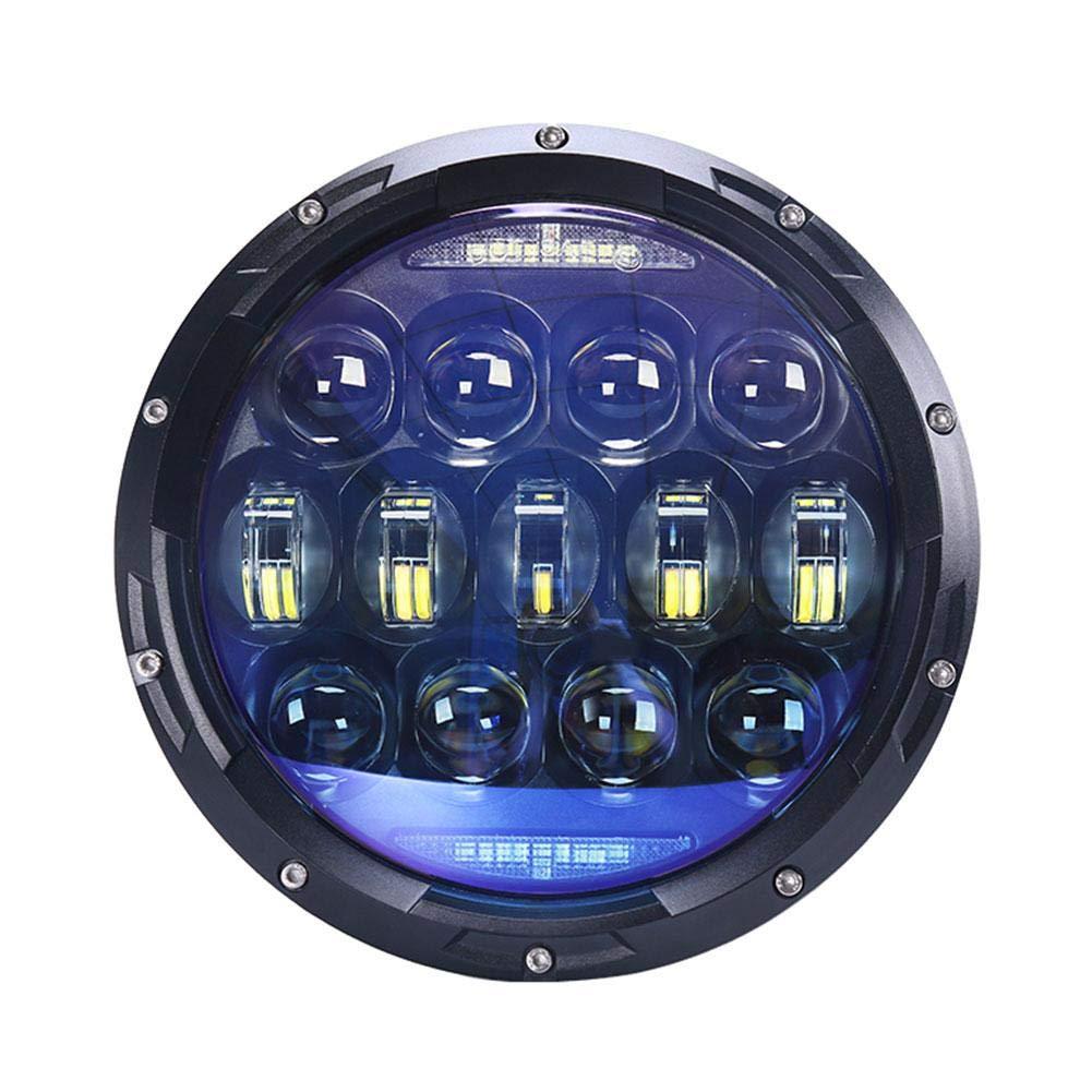 seasaleshop 7' 130W LED Scheinwerfer Frontscheinwerfer mit Amber Signal fü r Jeep Wrangler JK TJ ,Jeep Cj-5 Cj-7 CJ-8,HummerH1, HummerH2
