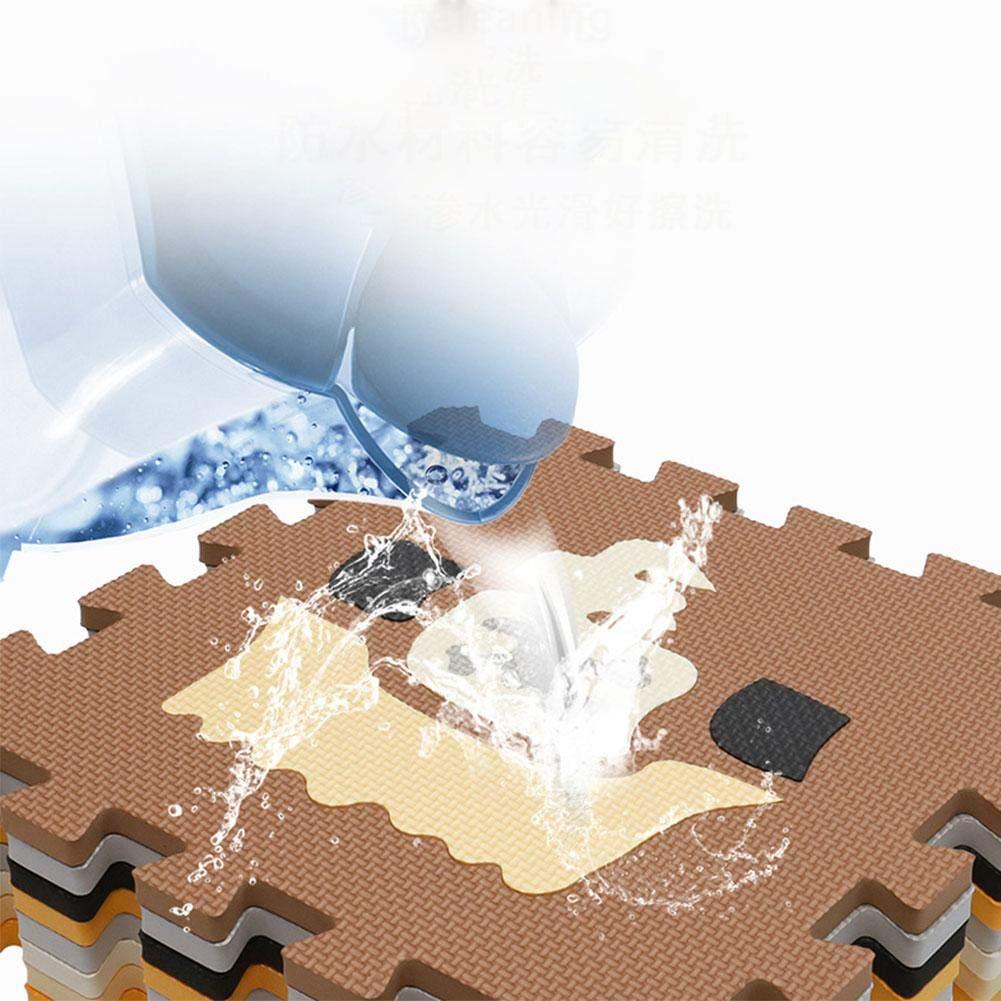 Luerme Tapis de jeu en mousse pour b/éb/é avec barri/ère de grande taille tapis de couchage imbriqu/é avec 23 dalles de plancher en mousse pour b/éb/é jouant