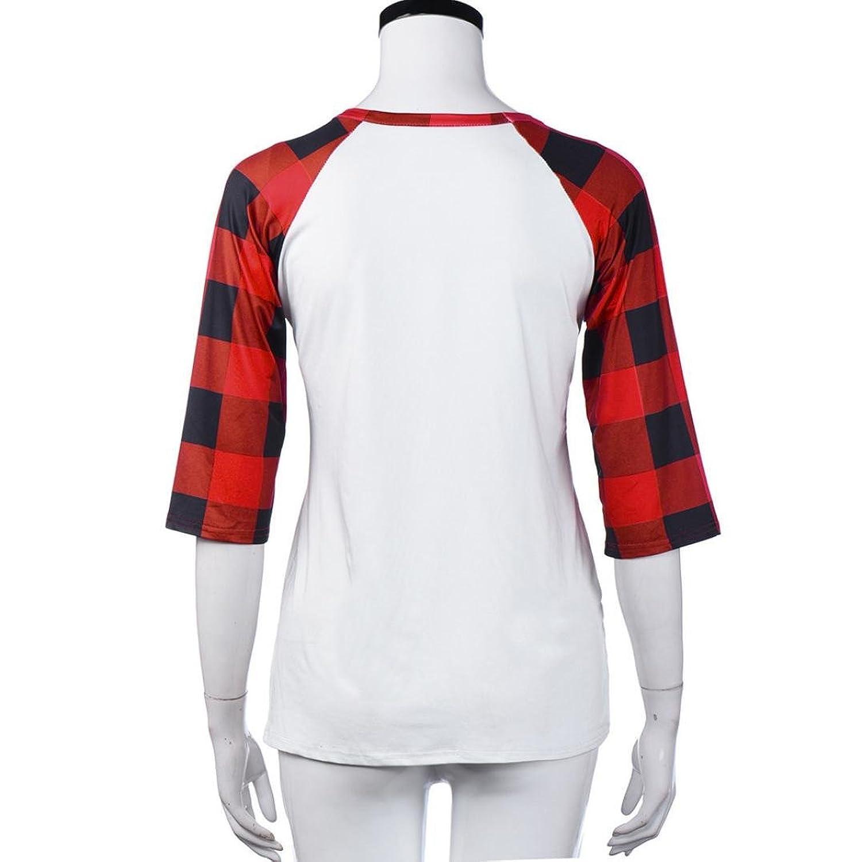 Cinnamou Camisas Manga Larga Elegante Moda con Cuello Redondo Blusa Casual Tunicas Pullover Forma de Corazón Vacaciones Regalo Camiseta: Amazon.es: Ropa y ...