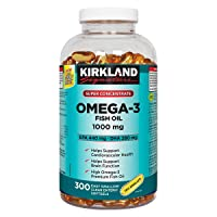 Kirkland Signature Super Concentrate Omega-3 Fish Oil 1000mg, EPA 440/DHA 280, 300...