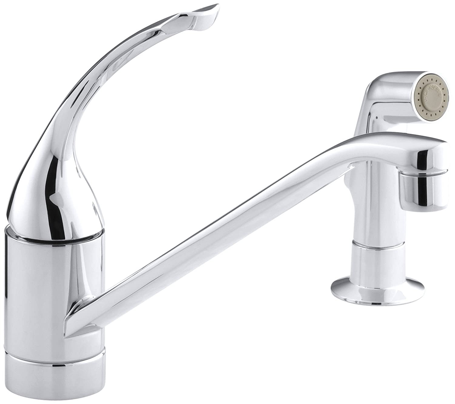kohler k 15176 fl cp coralais single control kitchen sink faucet kohler k 15176 fl cp coralais single control kitchen sink faucet polished chrome touch on kitchen sink faucets amazon com