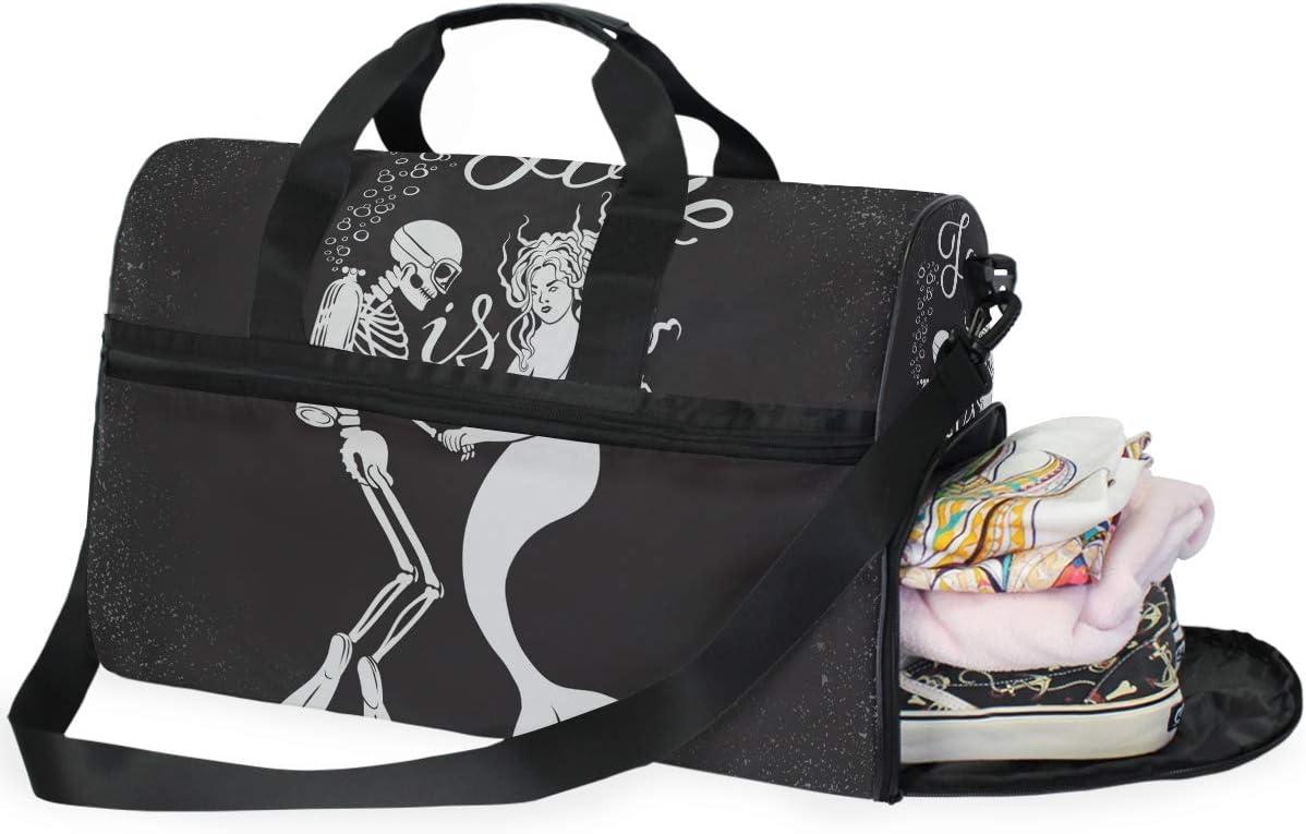 Waterproof Foldable Sports Shoulder Bag Hand Luggage Duffel Pack Travel Bags WL
