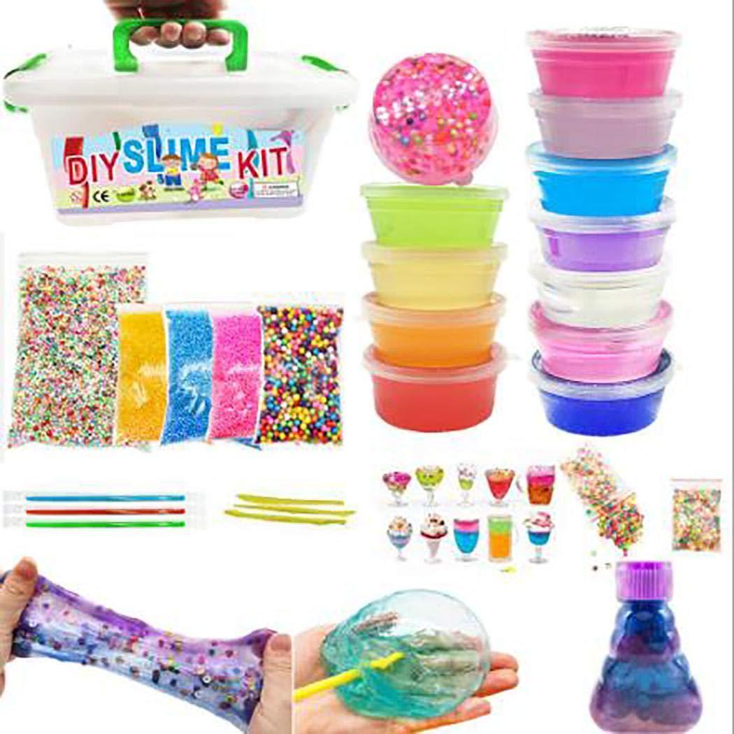 Lantusi DIY Slime Kit Fluffy Soft Foam Clay Making Material Set Plasticine for Children Hand & Footprint Makers by lantusi