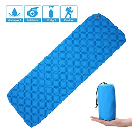 Colchoneta hinchable Camtoa ultraligera, alfombrilla para dormir/camping/hinchable, de nailon, tamaño 190 cm x 58 cm, alfombrilla compacta y ...