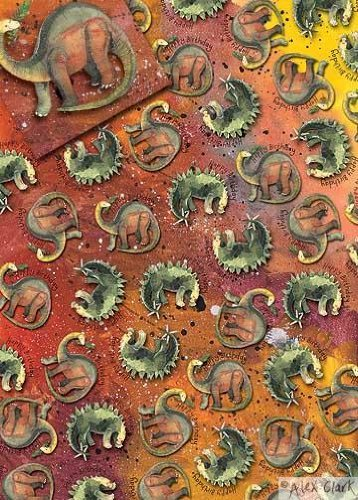 Amazon.com: Alex Clark – Taza (Arte Dinosaurios regalo de ...