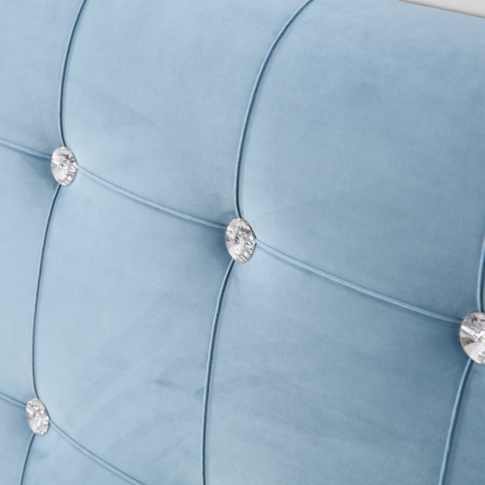 General Vercart Sofa Bed Large Upholstered Headboard Filled Triangular Wedge Cushion Bed Backrest Positioning Support Pillow Reading Pillow Office Lumbar Pad with Removable Cover Blue 47x4x24 Inches