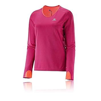 c972399f30bdf Salomon Women s Camiseta ml Runner Ls Tee W Gaura Trail Running Long Sleeve  T-Shirt