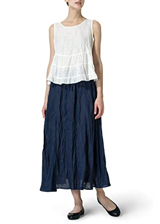 2d2dbc69 Vivid Linen Sleeveless Pleated Blouse at Amazon Women's Clothing store: