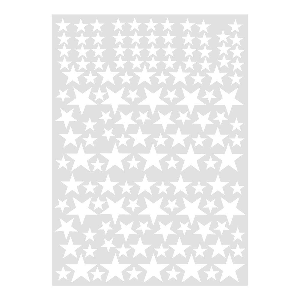 Fdit Pack de 2 Wall Sticker /étoiles PVC Amovible DIY Vinyle Creative Art Decal pour D/écoration Salon Chambre Maison denfant 6 Couleurs Rose