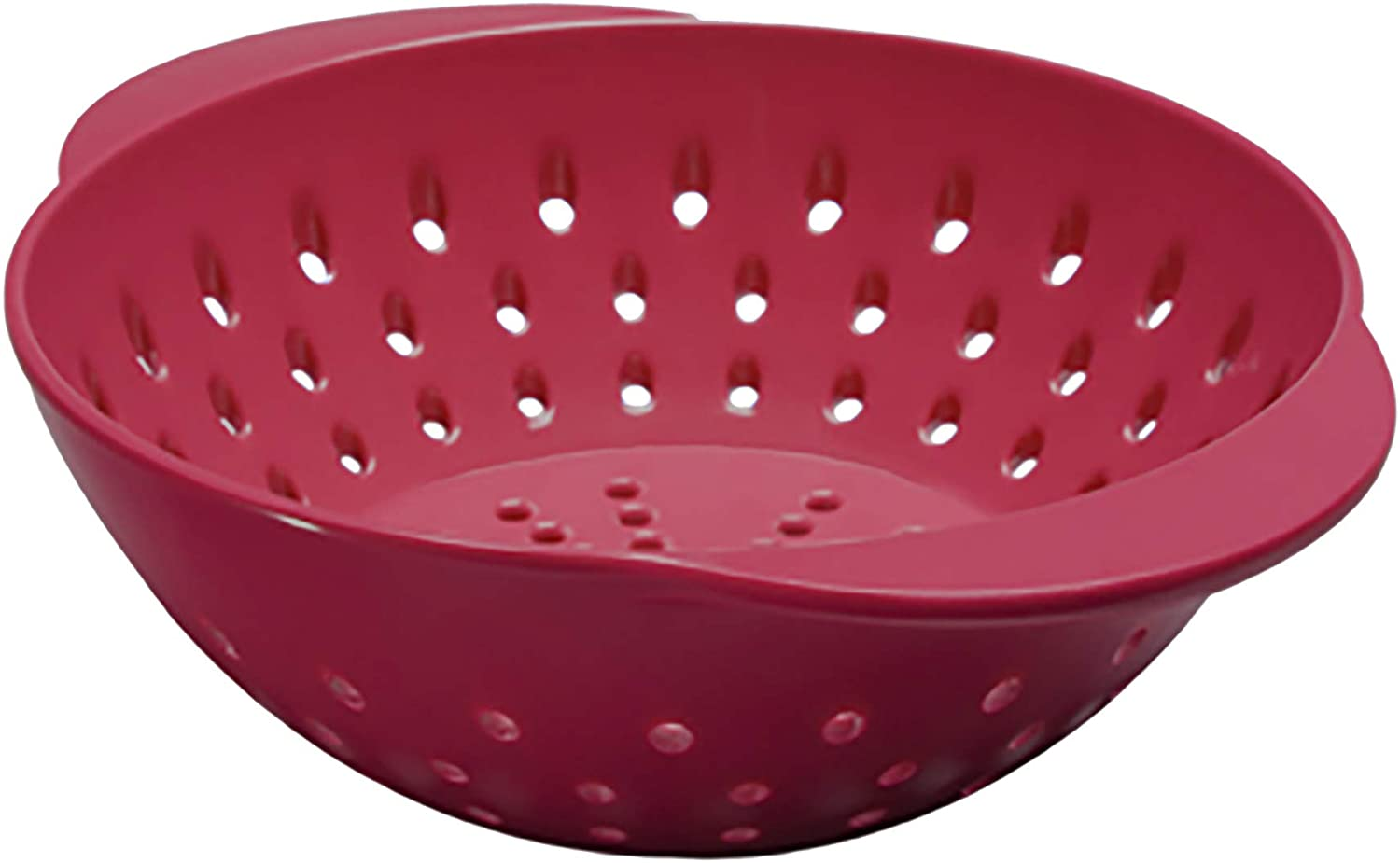 Tovolo Mini Quick Draining Berry Wash With Easy Grip Handles, Small Food Strainer for Berries & Fruit, Melamine Colander to Minimize Bruised Fruit, Cayenne Red