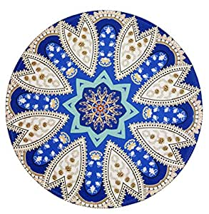 Margoun Vintage Circular Rug Mousepad with Traditional Design, Mouse pad with Fast and Accurate Control Non-Slip Rubber Base for MacBook/iMac/Notebook - Pattern 1
