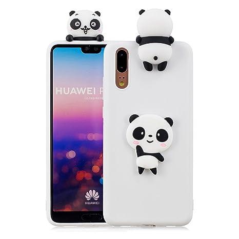 Aeeque Custodia Huawei P20 Pro 61 Silicone 3d Panda Bianco Modello
