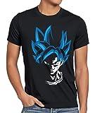 style3 Super Goku Blue God Modo Camiseta para Hombre T-Shirt